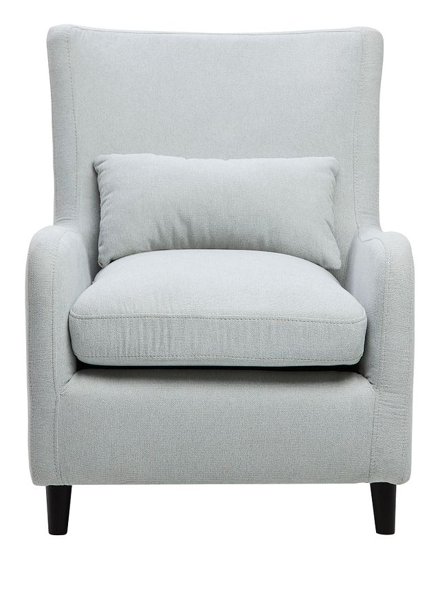 Fremont Light Blue Fabric Accent Chair (3)