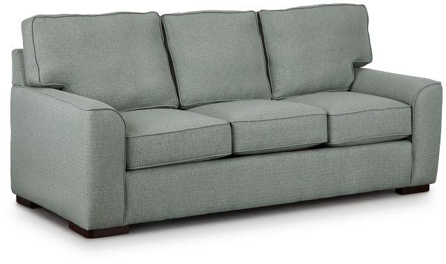 Austin Green Fabric Sofa (1)