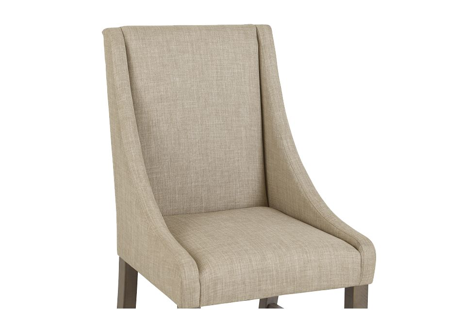 Taryn Light Taupe Upholstered Arm Chair
