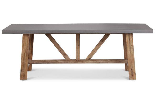 """Canyon Concrete 86"""" Rectangular Table"""
