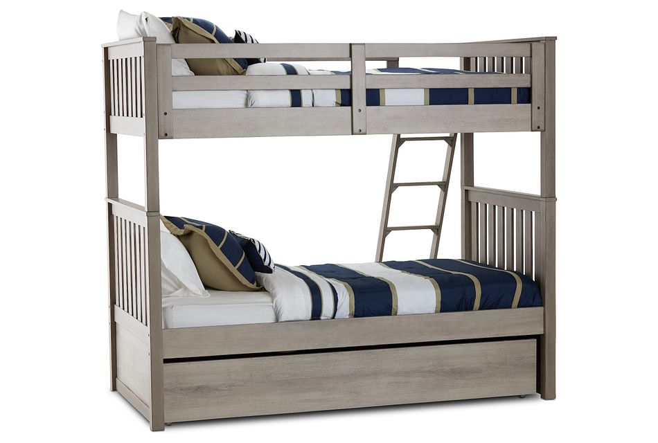 Rivercreek Gray Wood Trundle Bunk Bed