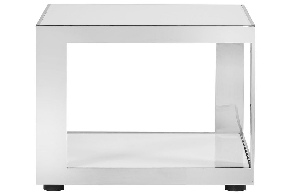 Harley White Metal End Table,  (0)
