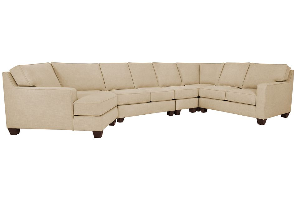 York BEIGE FABRIC Large Left Cuddler Sectional