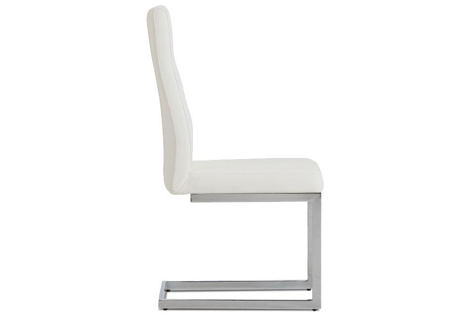Bronx White Upholstered Side Chair,  (2)