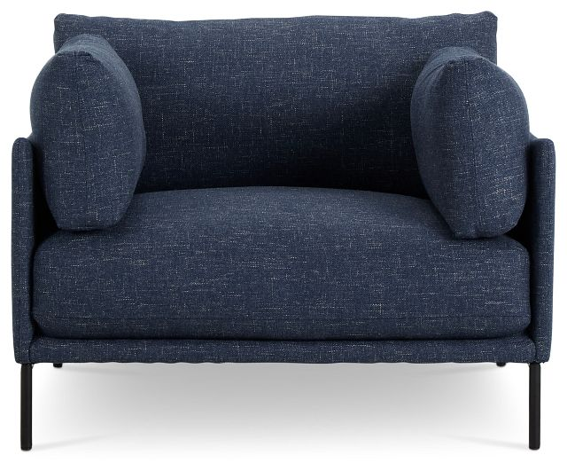 Oliver Dark Blue Fabric Chair (3)