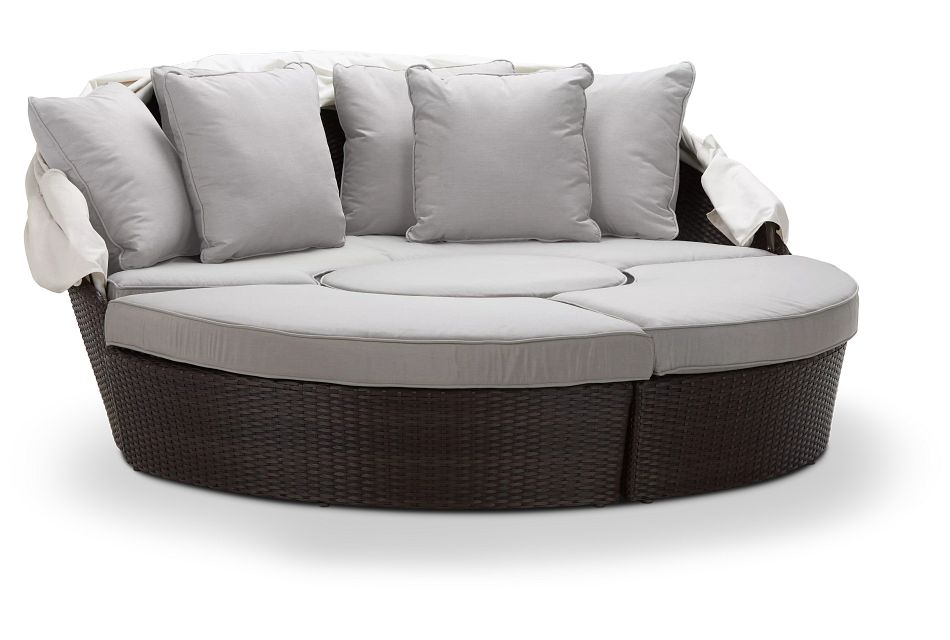 Fina Gray Canopy Daybed