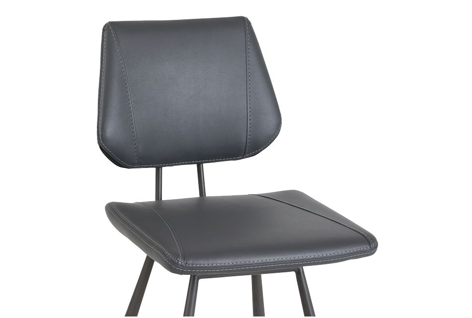 "Gunnar Dark Gray 24"" Upholstered Barstool"