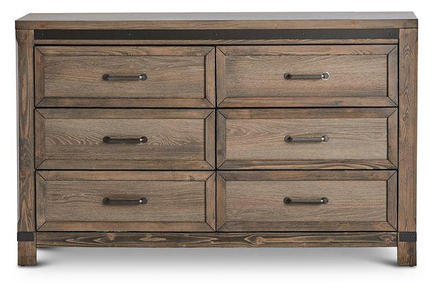 Lancaster Mid Tone Wood Dresser (1)