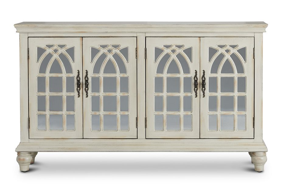 Baskill Ivory Four-door Cabinet