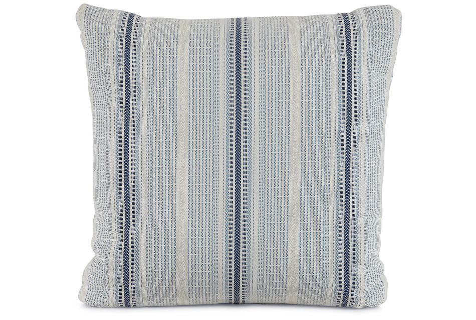 "Lang Blue Fabric 20"" Accent Pillow,  (1)"