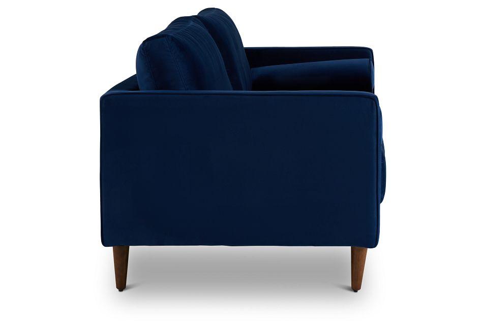 Luna Dark Blue Velvet Sofa,  (3)
