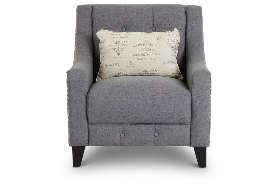 Hutton Dark Gray Fabric Chair,  (3)