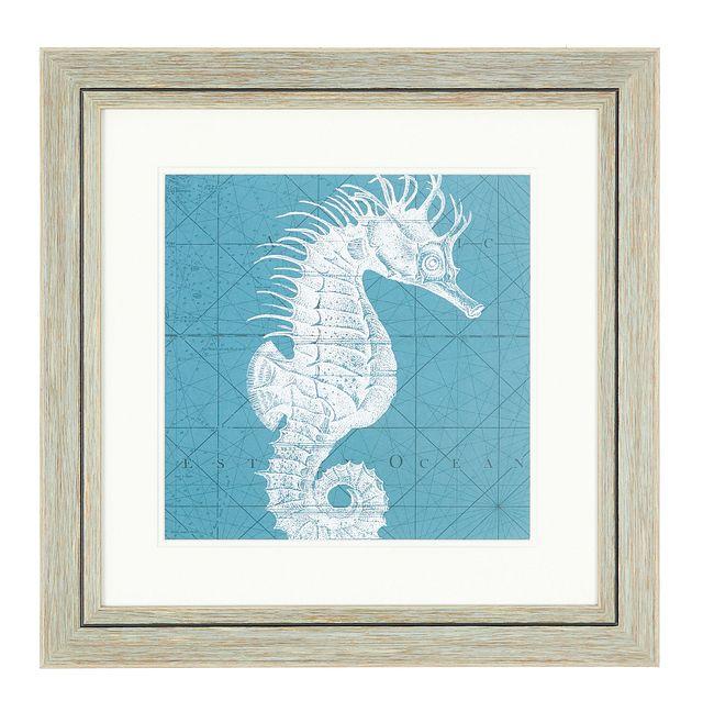 Seahorse Blue Framed Wall Art (0)