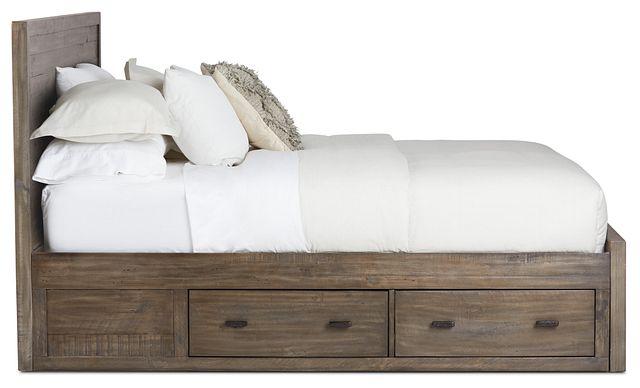 Seattle Gray Wood Platform Storage Bed (3)