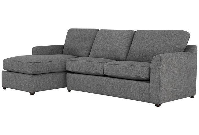 Asheville Gray Fabric Left Chaise Sectional