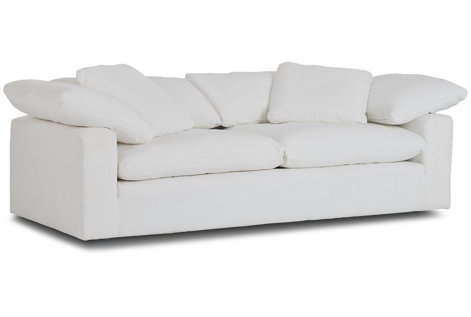 Nixon White Fabric Sofa,  (3)