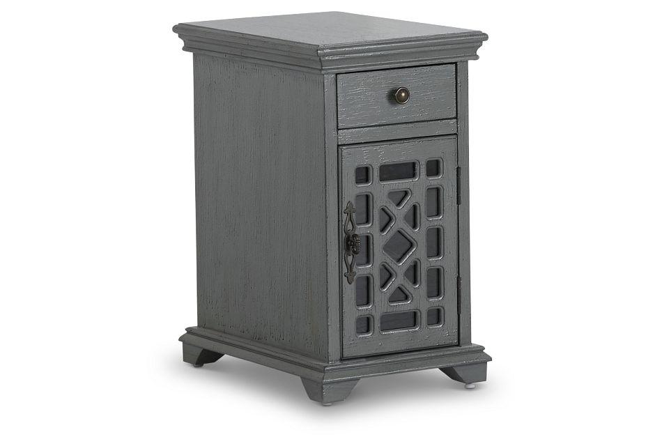 Alexis Dark Gray Small Cabinet,  (2)