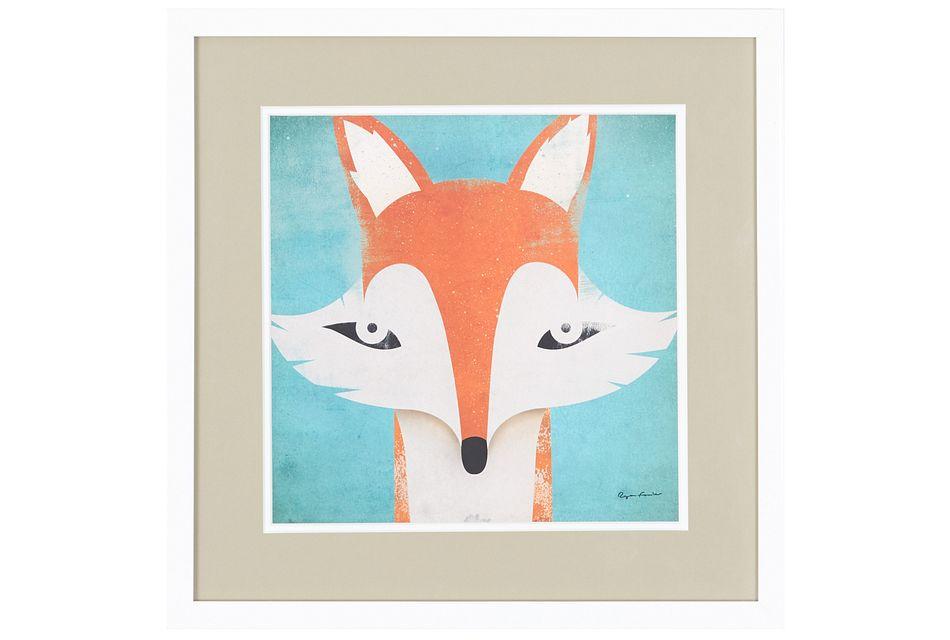Fox Orange Framed Wall Art