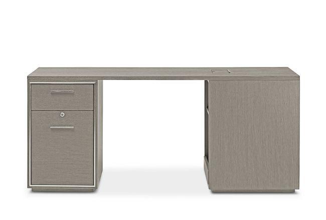 Highline Gray Peninsula Desk