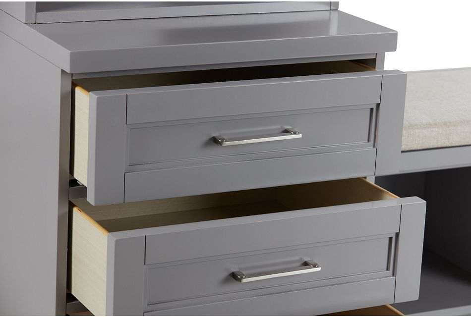 "Newport Gray 164"" Drawer Entryway"