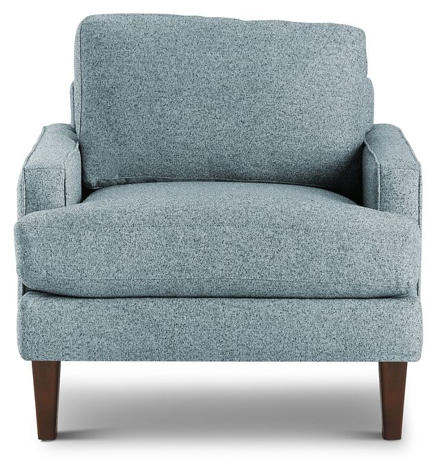 Morgan Teal Fabric Chair With Wood Legs (3)