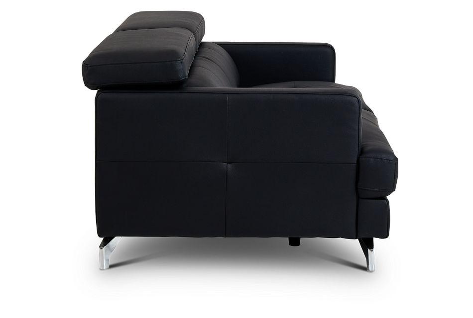 Marquez Black Micro Sofa,  (3)