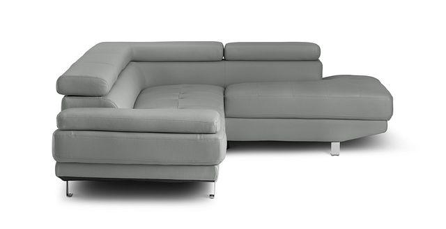 Zane Dark Gray Micro Right Chaise Sectional (1)