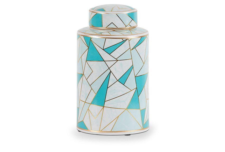 Marlon Teal Medium Jar