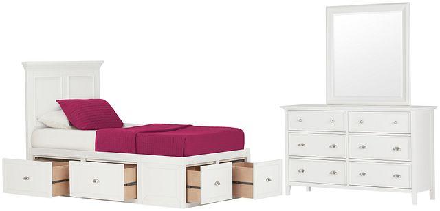 Spencer White 4-drawer Platform Storage Bedroom (0)