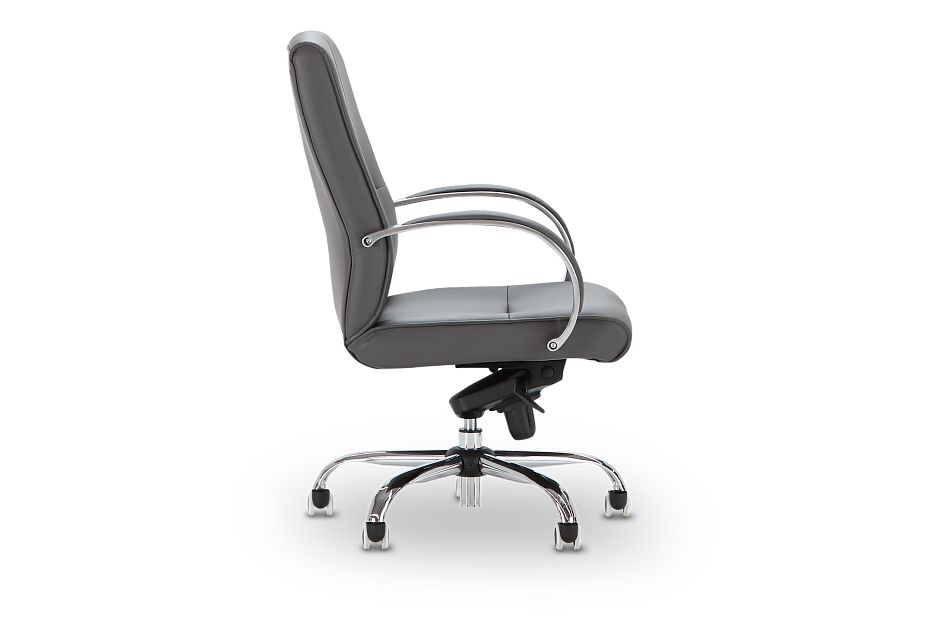 Greeley Gray Uph Desk Chair, %%bed_Size%% (2)