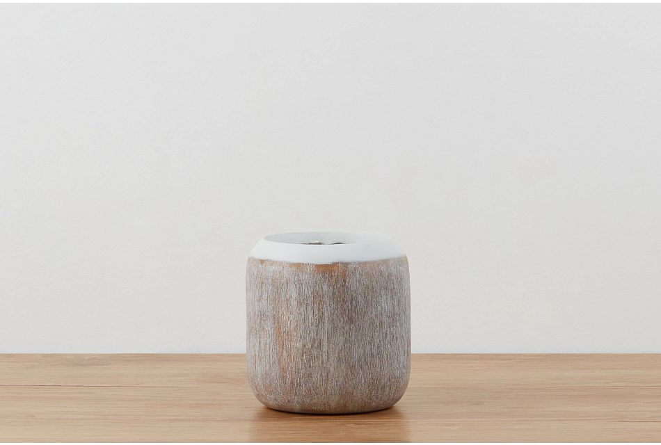 Cerise White Vase