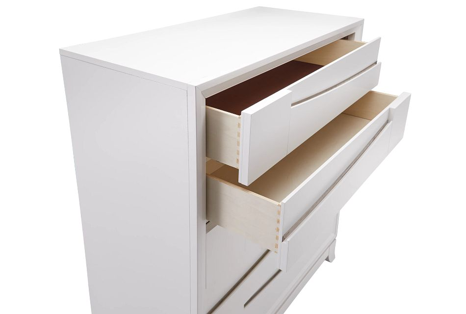 Imperial White 5-drawer Chest