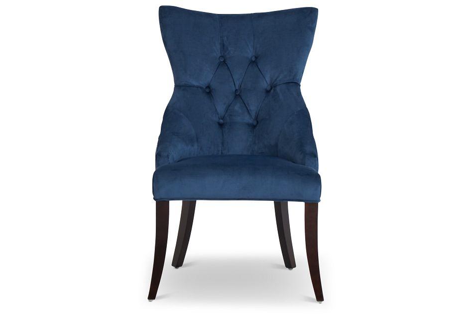 Sloane Dark Blue Upholstered Arm Chair,  (3)