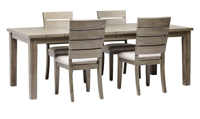 Sienna Gray Rect Table & 4 Slat Chairs (0)
