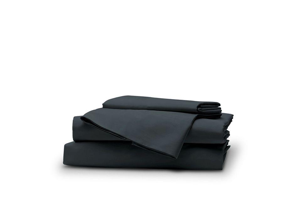 Cotton Sateen Dark Blue 300 Thread Sheet Set