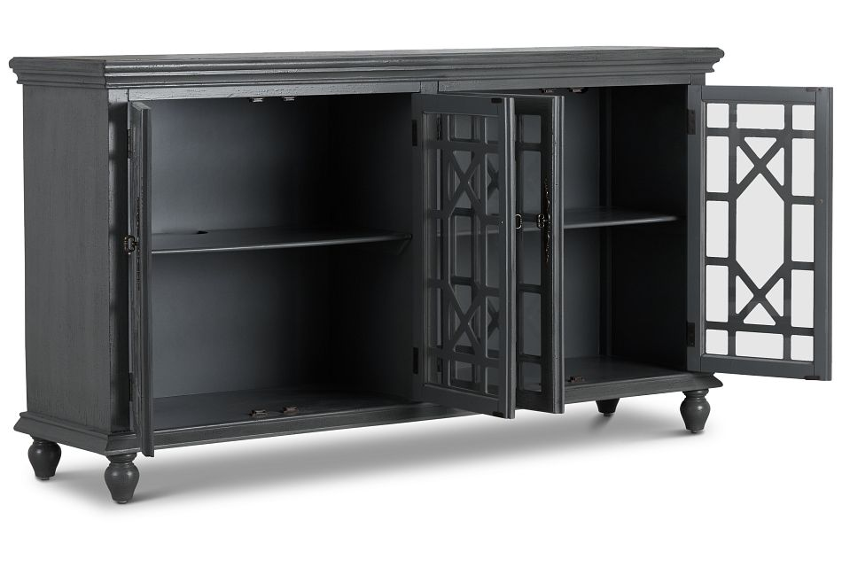 Alexis Gray Four-door Cabinet