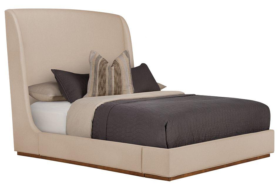 Triss Dark Taupe Uph Platform Bed