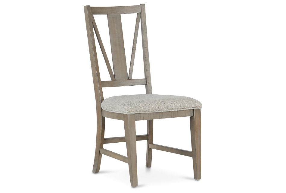 Heron Cove Light Tone Upholstered Side Chair,  (1)