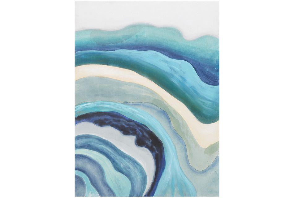 Ripple Blue Canvas Wall Art
