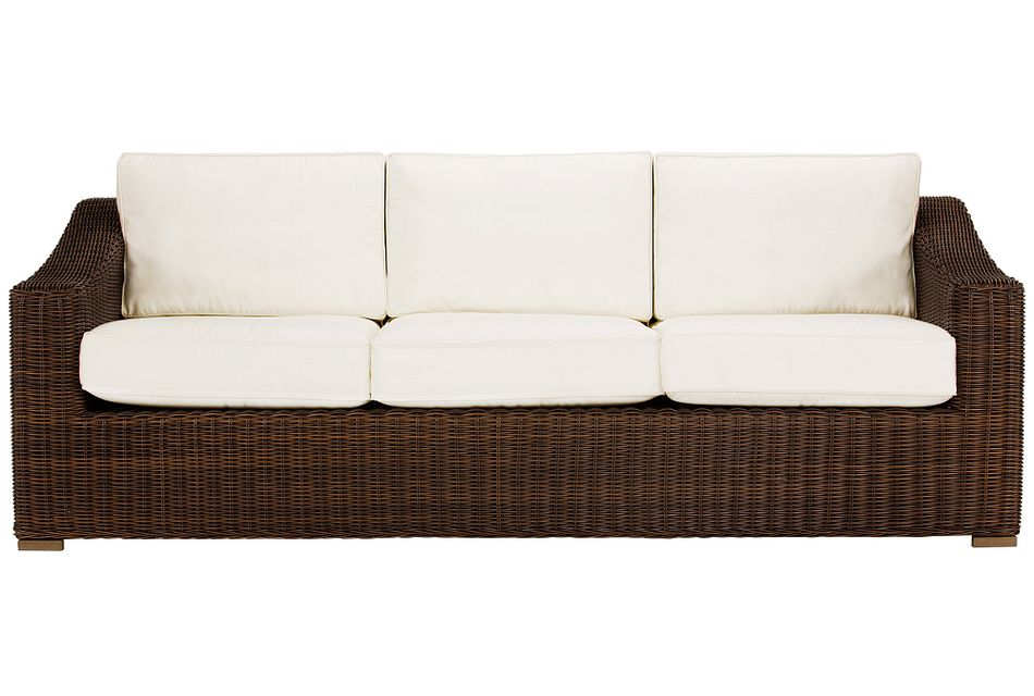 Canyon Dark Brown White Sofa