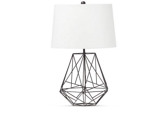 Cage Black Table Lamp