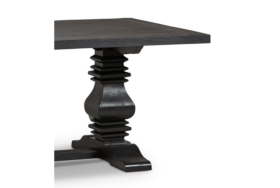 "Hadlow Black 84"" Rectangular Table"