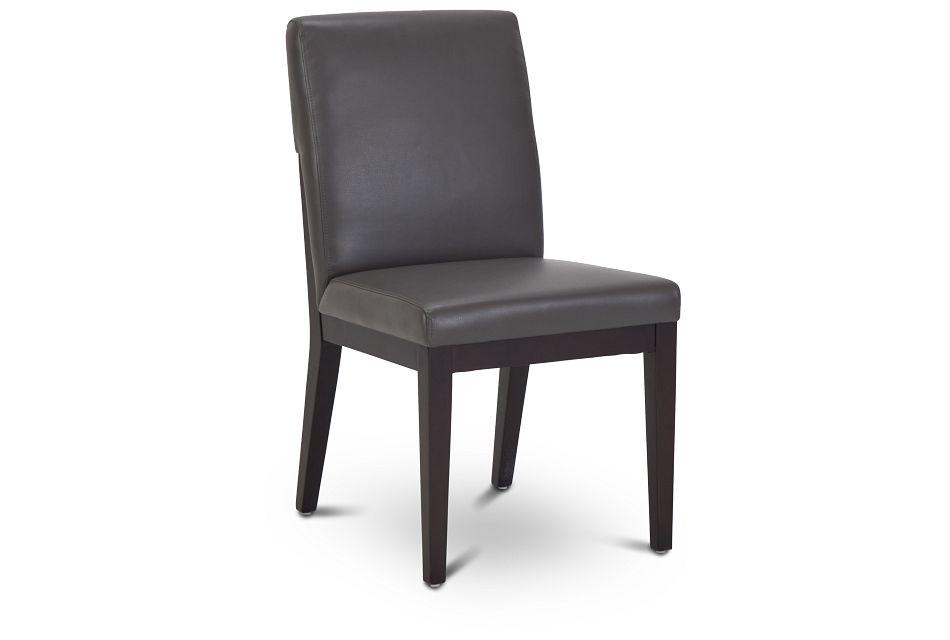Lago Dark Gray Bonded Ltr Side Chair