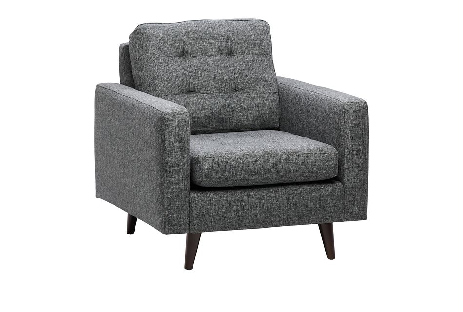 Gwen Dark Gray Fabric Chair