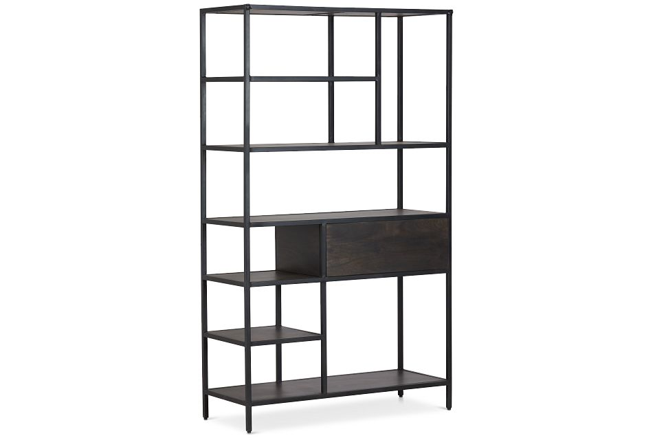 Cleo 1-drawer Metal Bookcase