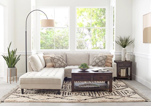 Eli Taupe Micro Left Chaise Sectional (0)