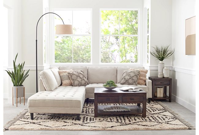 Eli Taupe Micro Left Chaise Sectional