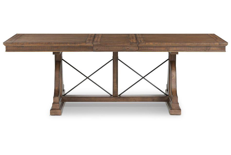 Heron Cove Mid Tone Trestle Table,  (1)