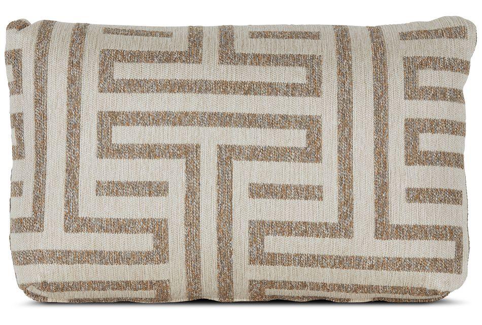 Doric Beige Lumbar Accent Pillow