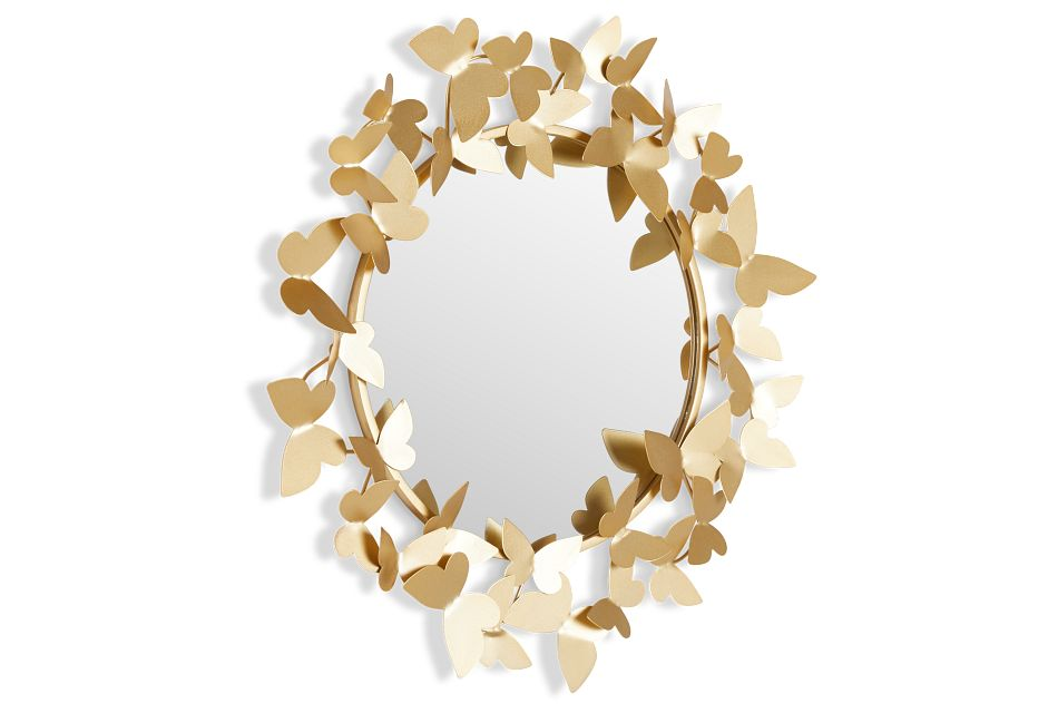Butterfly Gold Mirror